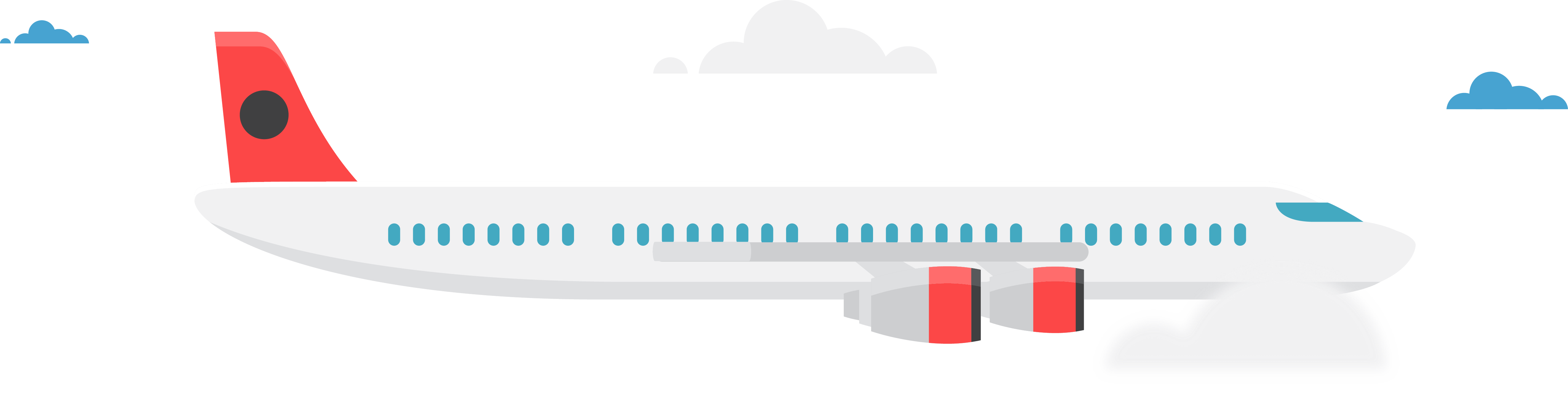 Airplane and travel concept